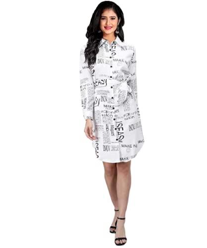 KAMALA International Women's A-Line Crepe Western Dress ()