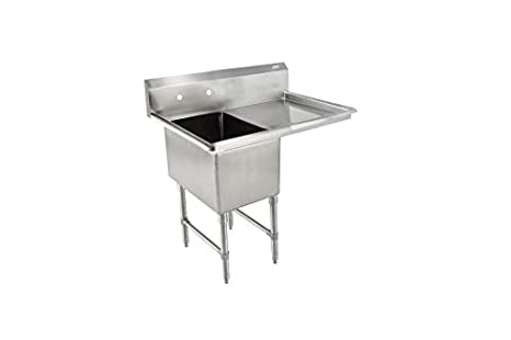 John Boos B Series Stainless Steel Sink, 14u0026quot; Deep Bowl, 1 Compartment,