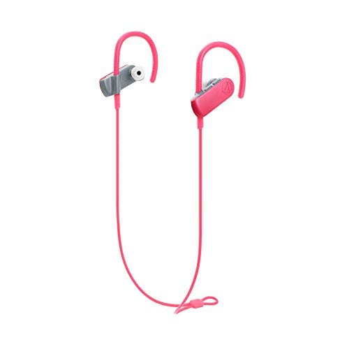 Audio-Technica ATH-SPORT50BTBK SonicSport Bluetooth Wireless In-Ear Headphones, Pink