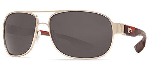 Costa Del Mar Conch Sunglass, Rose Gold w/ Light Tortoise/Gray - Del Mar Hammock Costa Sunglasses