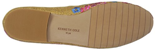 Natural Women's Raffia Embroidery Kenneth Cole York Flat Loafer New Westley 6t8Ugn
