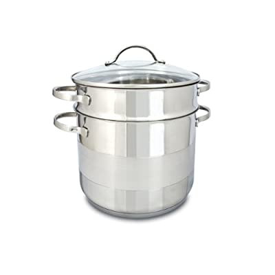 Cuisinox POT-C24-PASTA Gourmet Covered Pasta Pot Set, 7.5-Liter