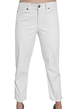Calvin Klein Women's Powerstretch Skinny Crop Jeans (4, White)