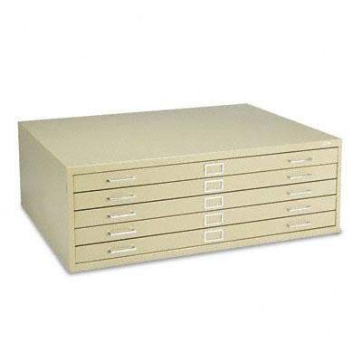 Safco - Five-Drawer Steel Flat File 46&Frac12;&Rdquo;W X 35&Frac12;&Rdquo;D X 16&Frac12;&Rdquo;H Tropic Sand ''Product Category: Office Furniture/File & Storage Cabinets'' by Safco