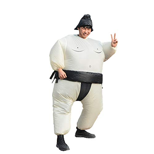 HHARTS Sumo Inflatable Costume Blow up Wrestling Wrestler Costume for Halloween Cosplay Party Christmas (Black) ()
