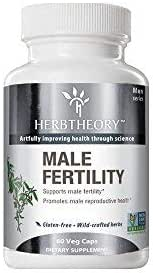 Herbtheory Male Fertility Supplement with Goji Berry for Reproductive Health (920mg, 60 Capsules)