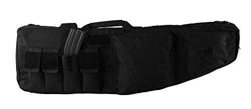 K-Cliffs Tactical Double Long Rifle Gunbag | Lockable Zippers | Padded Water Resistance ()