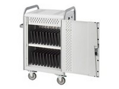 Bretford Manufacturing MDMLAP20-CTAL TORES AND CHARGES 20 LAPTOPS OR NETBOOKS AND COMES STANDARD WITH FRONT & REAR LO