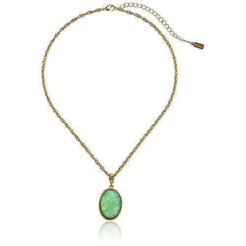 Green stone necklace amazon green stone necklace aloadofball Choice Image