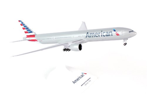 daron-skymarks-skr715-american-777-300-new-livery-airplane-model-building-kit-with-gear-1-200-scale