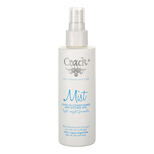 Anti Frizz Leave In Conditioner Spray by Crack (6 oz): Anti Frizz Control Sulfate Free Vegan Beauty Salon Hair Care w/ Acai - For Portable Frizz Reduction Against Humidity