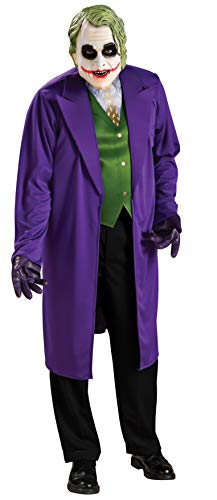 Bane Costume Halloween 2019 (Rubie's Costume Batman The Dark Knight Joker Costume, Black/Purple,)