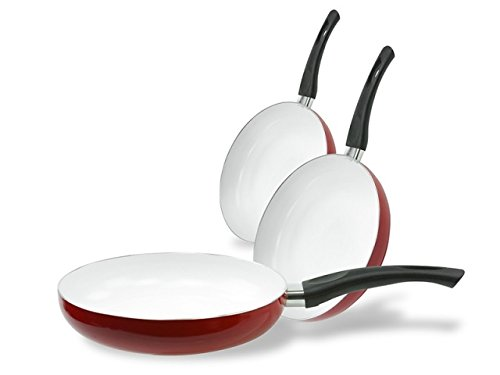 Imperial Healthy Nonstick Ceramic Coated Frying Pan - 3 Pieces ()