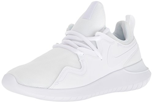 Nike Women's Tessen Running Shoe, White-Black, 6.5 Regular US