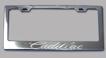 Cadillac Chrome License Plate Frame