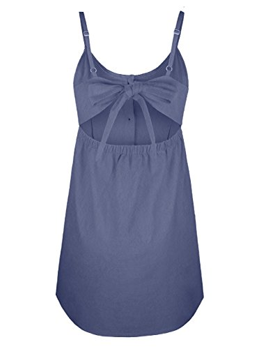 Vestito P dark Blue ISASSY Maniche Senza Donna 1WRzx