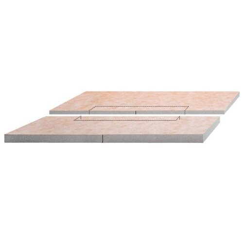 Schluter Kerdi-Shower-L 55 in. x 55 in. Polystyrene Center Drain Sloped Shower Tray