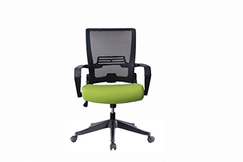 Ergonomic Mesh Back Office Task Chair Molded Foam W/Adjustable Lumbar Support Headrest, Folded Mesh Back, No Tool Required Assembly ANSI/BIFMA TB117-2013 (Custom Color Seat (Back Molded Foam Task Chair)