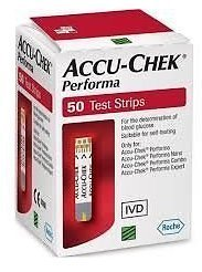 50 Test Strips of Accuchek Performa (Without Code chip) For Performa & Nano