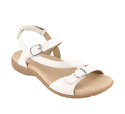 - Taos Footwear Women's Beauty 2 White Metallic Sandal 7 M US