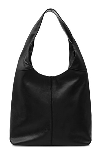 Montte Bag for Slouch Black Soft Jinne Leather Women Shoulder Di Gift Italian 100 Urxwn8Ufv