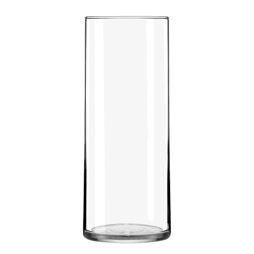 Libbey Cylinder Vase, 8.75-Inch, Clear, Set of 12