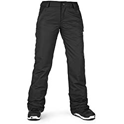Volcom Women's Frochickie Insulated Lined Snow Pant, Black, Medium