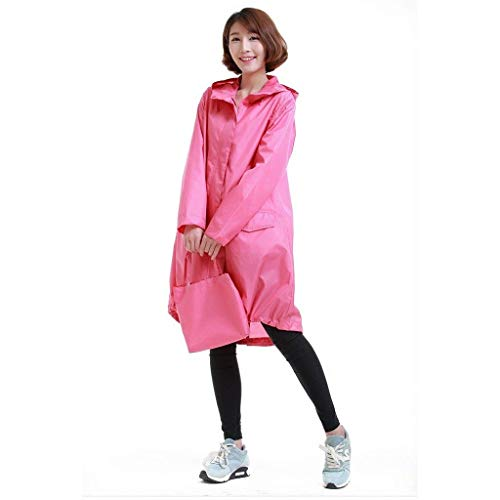 Plein Fermeture Air Trench Adulte Battercake Poncho Glissière Avec Portable Ms Et Raincoat Leisure À En Light Pink Coat Qff Casual Dame xgwqZwFv14