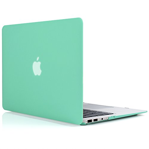 iDOO Matte Rubber Coated Soft Touch Plastic Hard Case for MacBook Air 13 inch Model A1369 and A1466 Green (Mac Green)