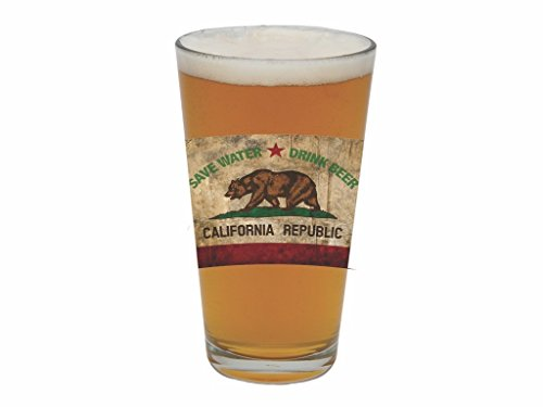 Santa Barbara Design Studio California Barstool Philosopher Pint Glass, Multicolored (Brewery Beer Glasses)