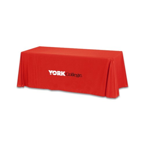 York College Red 6 foot Table Throw 'Official Logo' by CollegeFanGear