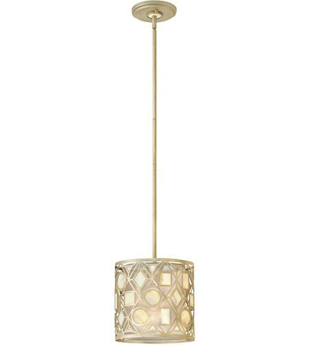Light Providence Leaf Ceiling - Pendants 1 Light with Silver Leaf Finish Steel Material Medium Base 10 inch 100 Watts