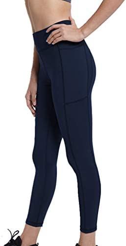 Women Yoga Pants Carry Pockets to Lift Buttocks Workout Running Trousers