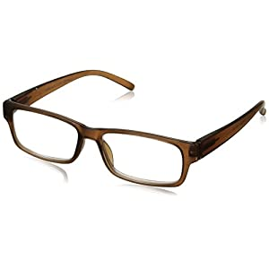 Peepers Unisex-Adult Old Fashion 2211300 Rectangular Reading Glasses, Brown