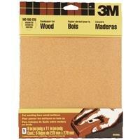 3M Garnet Sandpaper, 9-Inch by 11-Inch, Assorted-Grit, 5-Sheet - 9040NA, 5 Pack