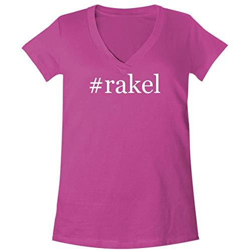 #Rakel - A Soft & Comfortable Women's V-Neck T-Shirt, Fuchsia, XX-Large