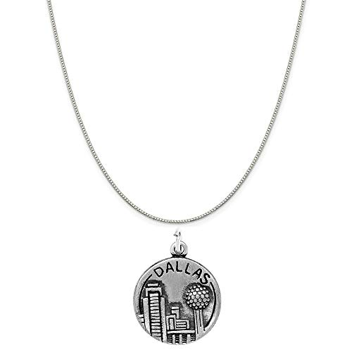 Raposa Elegance Sterling Silver Dallas Charm on a Sterling Silver 18