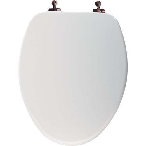 - Church Wood Elong Toilet Seat ORB Hinge Linen 585ORLN
