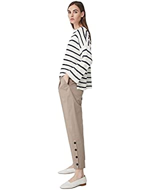 Mango Women's Striped Cotton-Blend Sweater