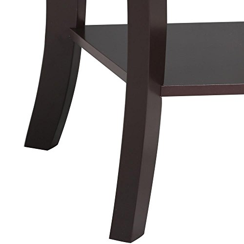 Topeakmart Wood Curved Legs Accent Side End Table Sofa End Table w/Lower Shelf Espresso, Set of 2 by Topeakmart (Image #5)