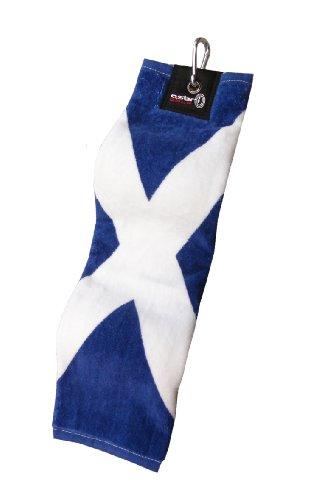 Asbri,Trifold Golf Bag Towel - Scotland Flag