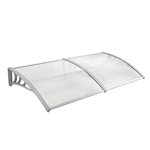 JOO LIFE 80''x 40'' Window Awnings Front Door Canopy Outdoor Shade Polycarbonate UV Rain Snow Protection Patio Sunshade Cover Canopy by JOO LIFE