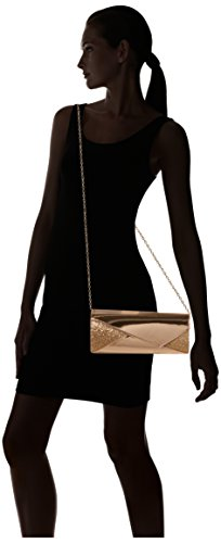 SwankySwans - Casey Patent Leather Glitter, Pochette da giorno Donna Oro (Champagne)