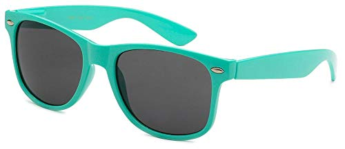 Sunglasses Classic 80's Vintage Style Design (Teal) -