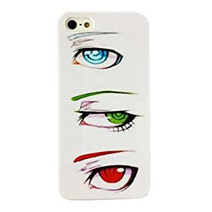 YXF Punk Eyes Pattern TPU Soft Case for iPhone 4/4S , Multicolor