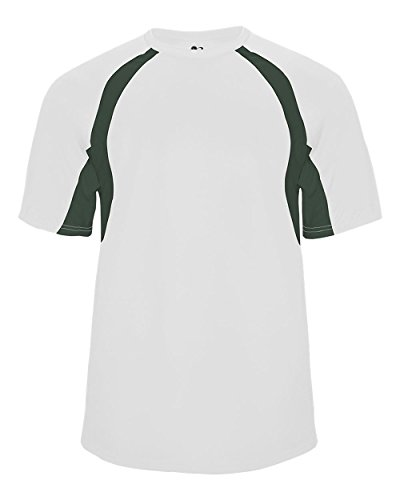 White/Forest Youth Small Two-Color Shoulder Baseball/Softball Sports Wicking Jersey/Shirt (Baseballs For Shetland)