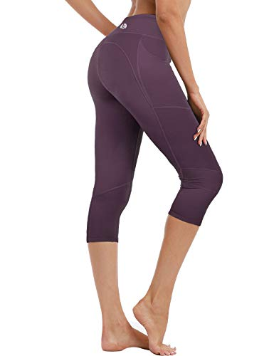 3/4 Yoga Pant - coastal rose Women's Yoga Pants 3/4 Workout Leggings Crop Sports Tights BlackBerry Cordial S