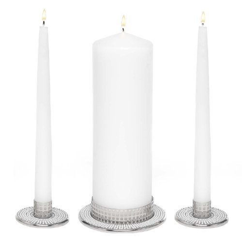 Hortense B. Hewitt Vintage Pearl Candle Stands, Set of 3 ()