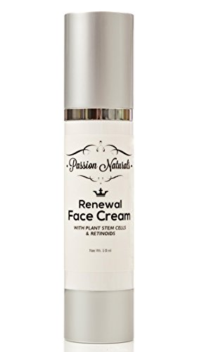 Passion Naturals Renewal Face Cream with Plant Stem Cells and Peptides, 30ml  (1.7oz.)