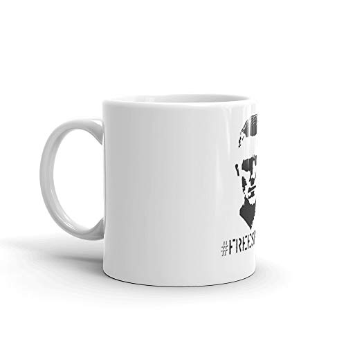 Hashtag Free Speech Free Tommy Tommy Silhouette Mug 11 Oz White Ceramic